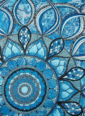 Painting - Mandala Of Water Element by Home Art