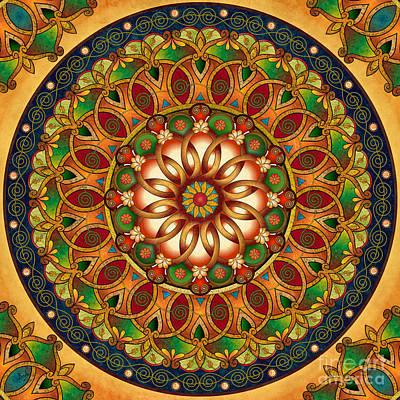 Mandala Rebirth Print by Bedros Awak
