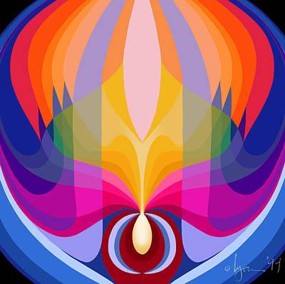 Mandala Sacred Print by Angela Treat Lyon