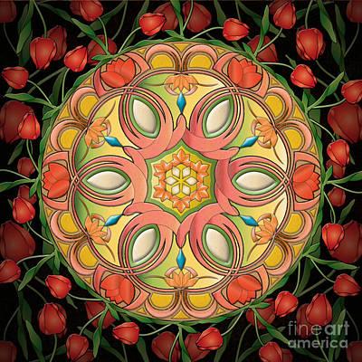 Mandala Tulipa Print by Bedros Awak
