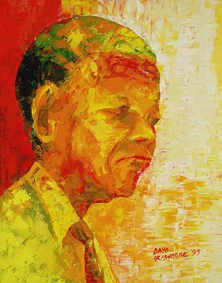 Struggling Painting - Mandela by Bayo Iribhogbe