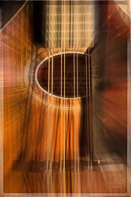 Mandolin Sound Explosion Print by Mick Anderson