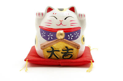 Cut Out Photograph - Maneki Neko by Fabrizio Troiani