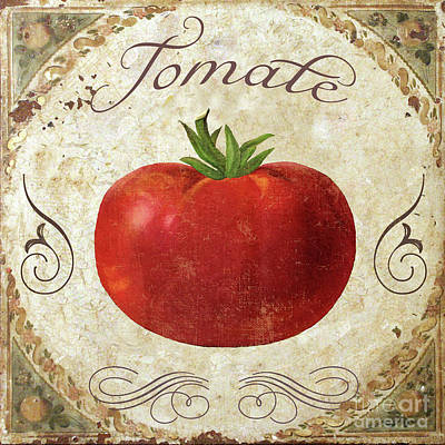 Mangia Tomato Print by Mindy Sommers