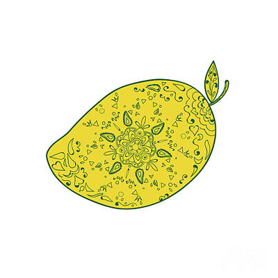 Mango Digital Art - Mango Fruit Mandala by Aloysius Patrimonio