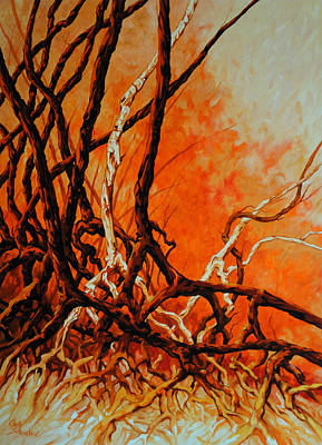 Tree Roots Painting - Mangroves by Chris Steinken