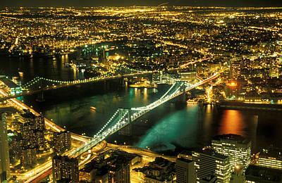 Citylife Photograph - Manhattan And Brooklyn Bridges by Gerard Fritz