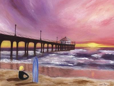 Frier Painting - Manhattan Beach Pier by Jamie Frier