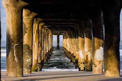 Up201209 Photograph - Manhattan Beach Pier Sunrise by Josh Whalen