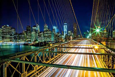 Traffic Photograph - Manhattan Bound by Az Jackson