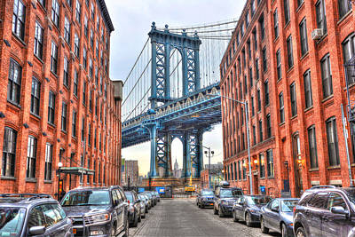 Manhattan Bridge Landscape From Dumbo Original by Randy Aveille