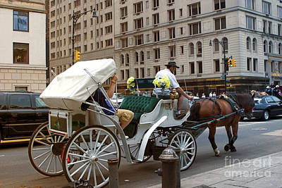Manhattan Buggy Ride Print by Madeline Ellis