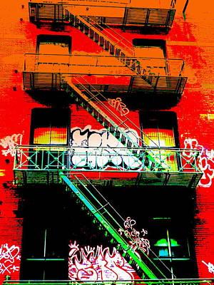 Fire Escape Photograph - Manhattan Fire Escape by Funkpix Photo Hunter