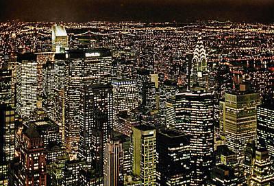 Power Photograph - Manhattan Lights by Joachim G Pinkawa