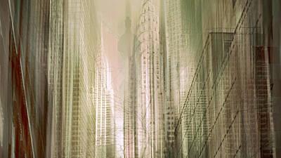 Chrysler Building Digital Art - Manhattan Mayhem by Jessica Jenney