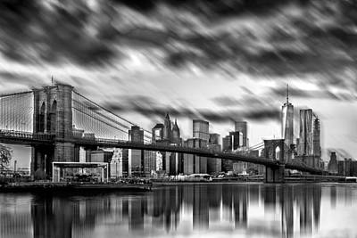 Illuminated Photograph - Manhattan Moods by Az Jackson