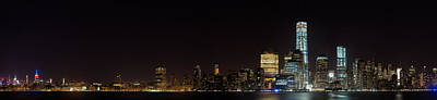 Manhattan Pano From The Hudson Print by Andres Leon