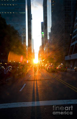 Manhattanhenge New York 2 Print by Design Remix