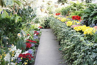 Manito Park Conservatory Print by Carol Groenen