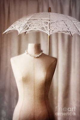 Necklace Photograph - Mannequin With Parasol by Amanda Elwell