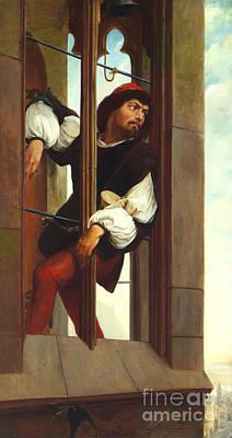 Hayez Painting - Manrico Imprisoned  by MotionAge Designs
