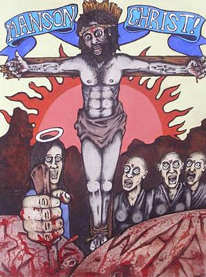 Manson Christ Print by Sam Hane