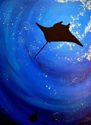 Manta Ray   Print by Una  Miller