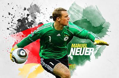 Goalkeeper Digital Art - Manuel Neuer by Semih Yurdabak