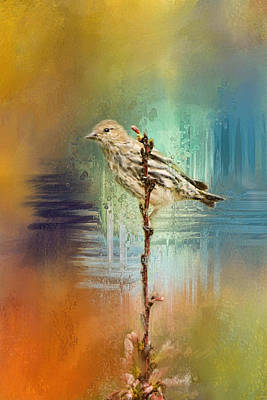 Siskin Painting - Many Colors 2 by Jai Johnson