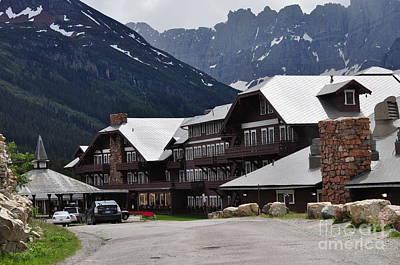 Many Glacier Lodge Print by Diana Nigon