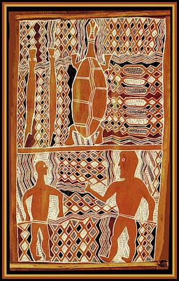 Esprit Mystique Digital Art - Maori Sepik Tribal Design by Witches Hammer - Virginia Vivier