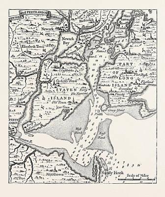 Map Of Eighteenth Century New York Print by American School