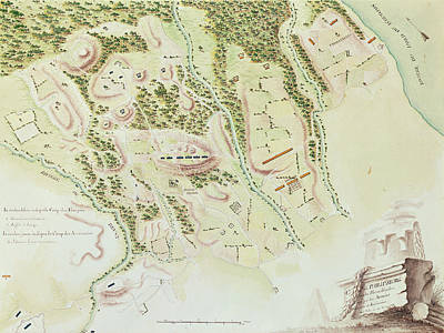 Nj Drawing - Map Of Phillipsburg by F Dubourg