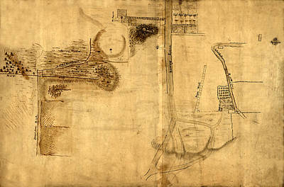 Bowery Photograph - Map Of The Bowery 1760 by Andrew Fare