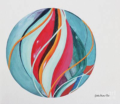 Sphere Painting - Marble by Jutta Maria Pusl