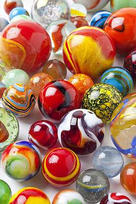 Child Photograph - Marbles Close Up by Garry Gay