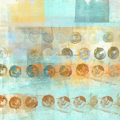 Abstract Mixed Media - Marbles Found Number 3 by Carol Leigh