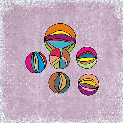 Marbles Print by Priscilla Wolfe