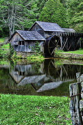 Marby Mill Reflection Print by Paul Ward