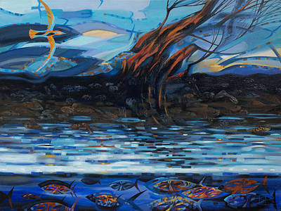 Disclosure Painting - March Streams And Winds by Oleg Lipchenko