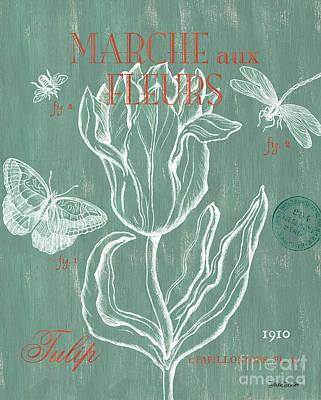 Marche Aux Fleurs Print by Debbie DeWitt