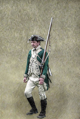 Marching Loyalist Soldier Revolutionary War Print by Randy Steele