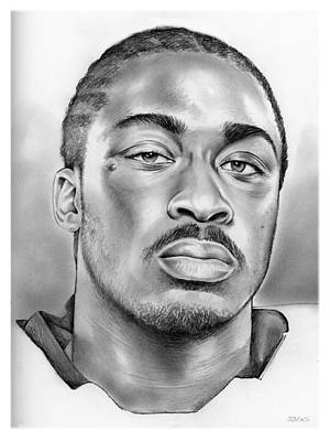 Football Drawing - Marcus Lattimore by Greg Joens