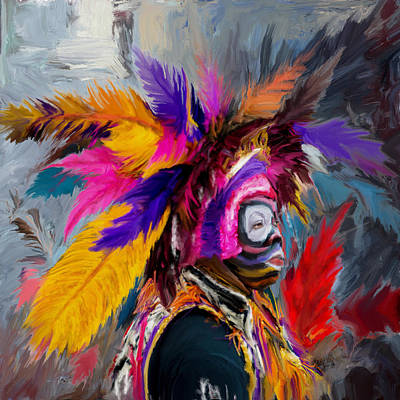 New Orleans Oil Painting - Mardi Gras 237 1 by Mawra Tahreem