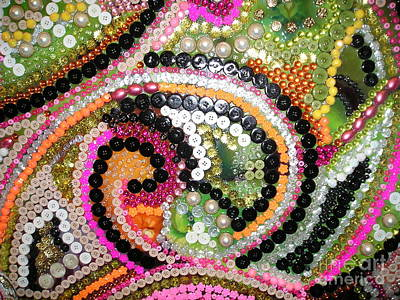 Ceramic Mixed Media - Mardi Gras by Nancy M Arcieri