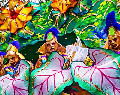 Tassel Digital Art - Mardi Gras Float - Paint by Steve Harrington