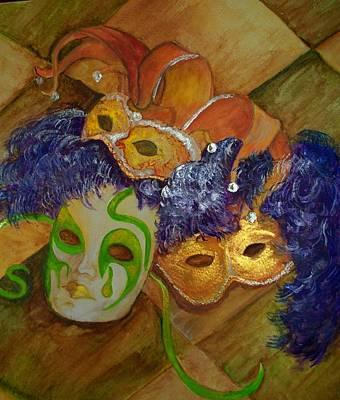 Mardi Gras Painting - Mardi Gras Fun by Lynda McDonald
