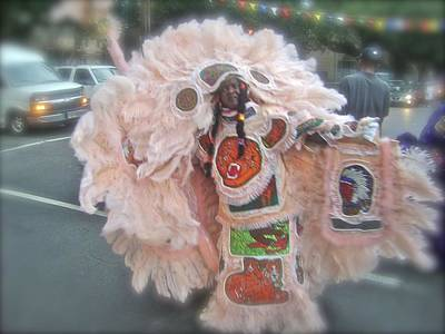 Lilwayne Photograph - Mardi Gras Indian In Full Mask by GM Robert