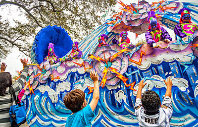 Street Photograph - Mardi Gras - New Orleans by Steve Harrington