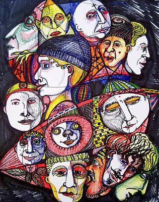 Mardi Drawing - Mardi Gras by Stephen Hawks